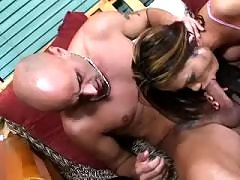 Busty trannies in fresh porn video