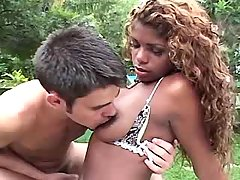 Ebony shemale seduces guy